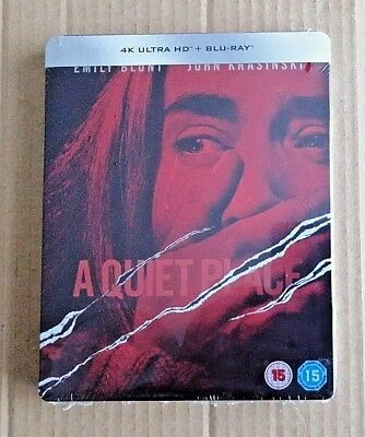 A Quiet Place UK Exclusive 4K UHD/Blu-ray steelbook BRAND-NEW & SEALED