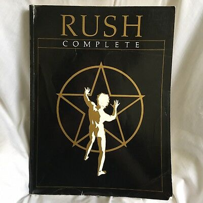 Rush Complete Music Song Book 1983 Core Music Publishing Sheet Geddy Lee