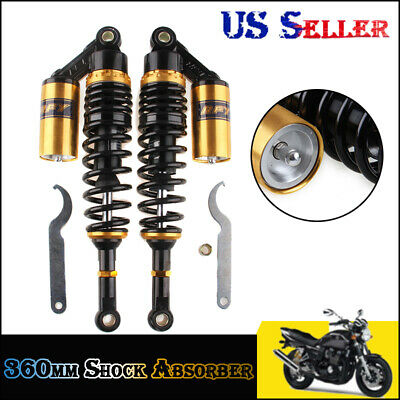 "13.5/"" 340mm Rear Air Shock Absorber10//12//14mm Fit for Honda CB1100A //1100F//125S"