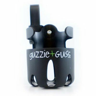 Guzzie + Guss Baby Child Stroller Black Cup Holder Attachment Part Bottles Drink