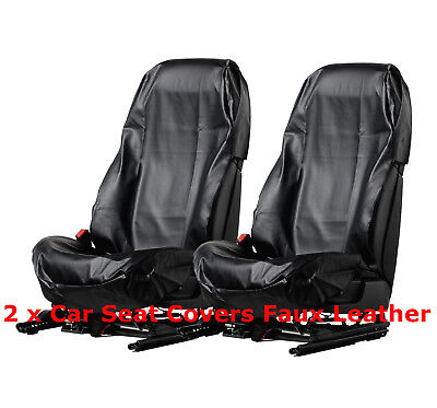 Waterproof Faux Leather Universal Car Seat Cover Protector Workshop Mechanics