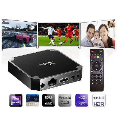 Smart BOX TV X96 mini Android 7.1 KODI 4K IPTV 5 CORE Nougat S905W 2GB RAM 16GB