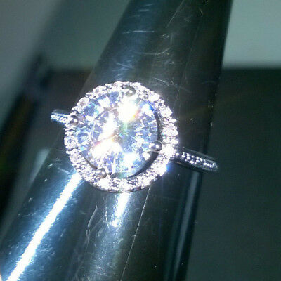 Elegance Style Ring Cz Silver  Size J1/2 Or  Size 49 New