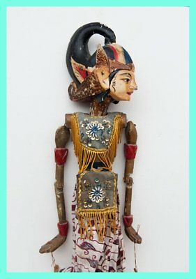 JAVANESE PUPPET - Traditional Wooden Javanese Puppet, From Java, Indonesia. Asia