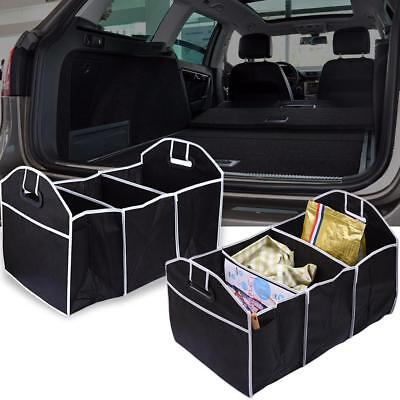 Black 3in1 Foldable Collapsible Car Boot Organiser Shopping Tidy Storage Bag Box