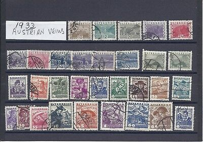 Austria selection 4, mostly used hinged.