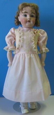 """ANTIQUE STYLE DRESS & PETTYCOAT FOR AN ANTIQUE FRENCH/GERMAN DOLL 24-25"""" 61-63cm"""