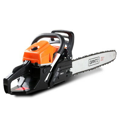 """GIANTZ 58cc Commercial Petrol Chainsaw 22"""" Bar E-Start Chains Saw Tree Pruning"""