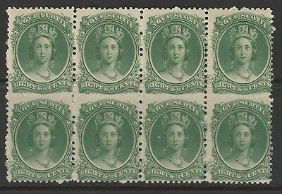 Canada - Nova Scotia 1863 Sg 14/15  Block Of 8 Mnh/mm