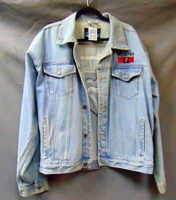 Vintage Rolling Stones European Tour Denim Jacket Sz XL RS9798 Embroidered  Rare b76114bd8b09