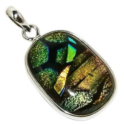 """Ancient Roman Glass 925 Sterling Silver Pendant 1.58""""(64)"""