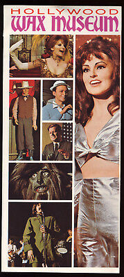HOLLYWOOD WAX MUSEUM Hollywood Boulevard California CA vintage 1970s brochure