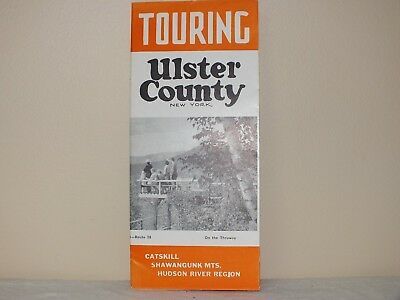 EARLY 1960 's BROCHURE  TOURING ULSTER COUNTY NEW YORK