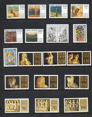 Vatican City Complete Year Sets - 1977-1978 - MNH