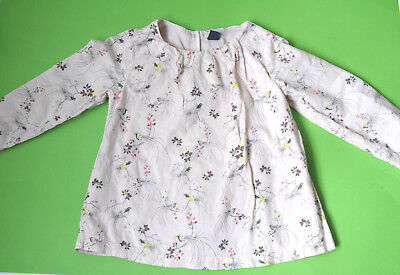babyGAP GAP Girls Top Blouse Long Sleeve Pink Birds Cotton Size 5