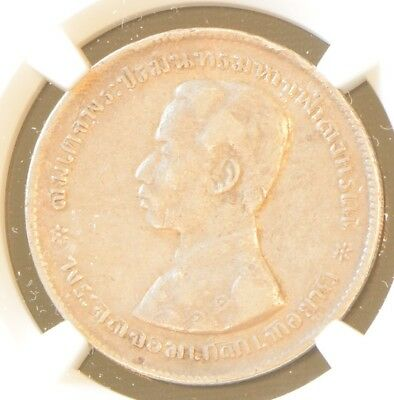 1876-1900 Thailand RAMA V One Baht Silver Coin NGC XF Details