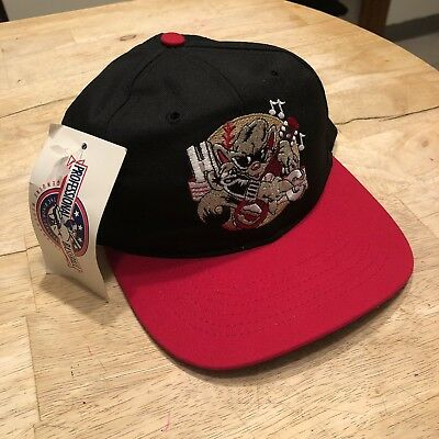 NEW BRITAIN ROCK Cats MINOR LEAGUE BASEBALL HAT CAP- FITTED- ONE ... c619e60ff356