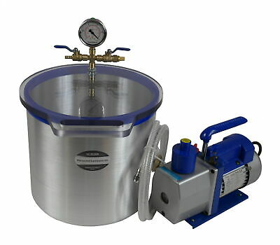 Set for silicone and resin degassing vacuum chamber 20.0l + vacuum pump 170l/min