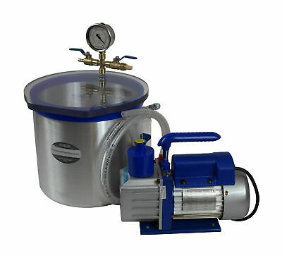 Set for silicone and resin degassing vacuum chamber 12.5l + vacuum pump 71l/min