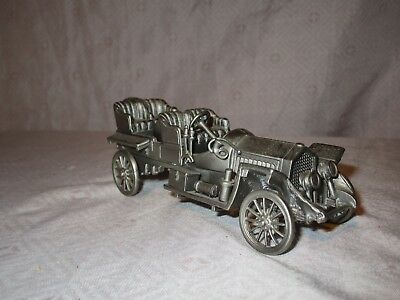 """Danbury Mint Pewter England 1907 Thomas Flyer 4 3/4"""" CLASSIC CARS OF THE WORLD"""