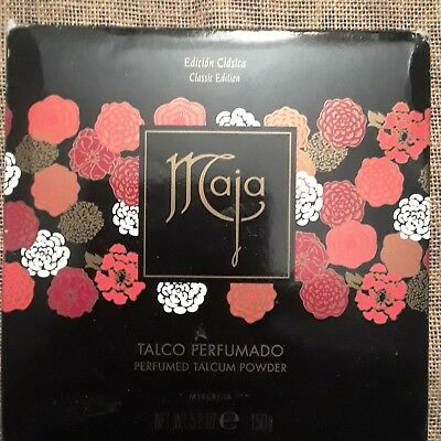 Vintage Maja 5.2 oz Perfumed Talcum Powder . NEW in box