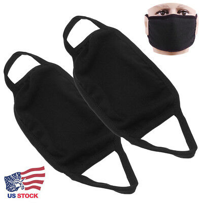Unisex Winter Warm Earloop Carbon Face Mouth Anti Dust Mask Anti-fog Black NEW