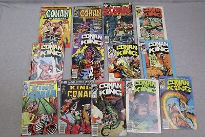 Marvel Comic Book Lot Conan 44 77 122 The King 29-32 34 36 42 55