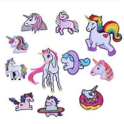 Embroidery Cute Unicorn Sew Iron On Patch Badge Fabric Applique DIY Hot Sale