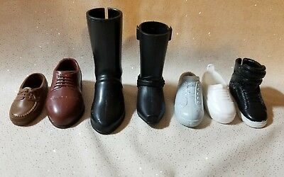 4 Pairs//Set Dolls Cusp Shoes Sneakers Knee High Boots for  Boyfriend KenWL