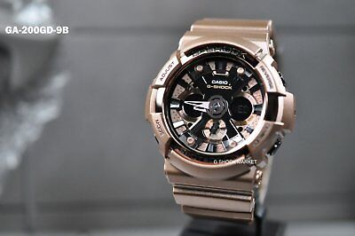 GA-200GD-9B Casio Men's G-Shock Dial Rose Gold Tone Resin Quartz Watch GA200 PO
