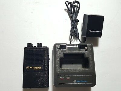 Motorola Minitor II SV (STORED VOICE) VHF 154.430MHz FIRE EMS PAGER W/CHARGER