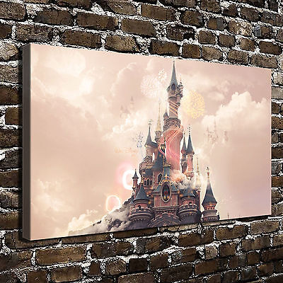 Disney Castle Paintings HD Print on Canvas Home Decor Wall Art Pictures posters