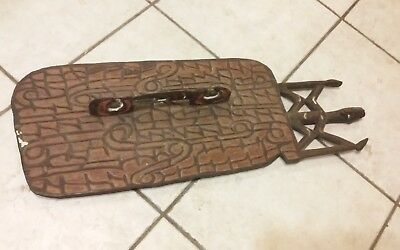 Incredible antique Papua New Guinea,Oceanic carved war shield ?Asmat?