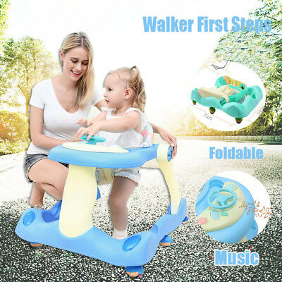 NEW Baby Walker First Steps Push Along Bouncer Activity Music Ride On Car