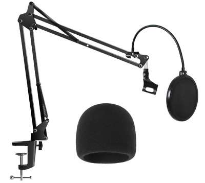 Microphone Innogear Heavy Duty Stand Windscreen Dual Mic And Layered Pop Filter