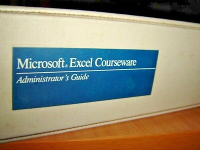 Microsoft Excel - Courseware and Administrator User's Guide Books