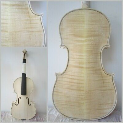 4/4 Flame maple wood Violin Full size Unfinished wood Spruce wood 15#