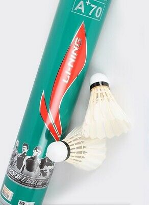 LI-Ning A+70 Durable Goose Feather Shuttlecocks - Tube of 12 Speed 77