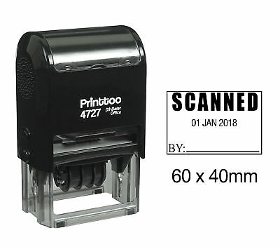 Printtoo Self Inking Scanned Rubber Stamp Office Stationary Custom Stamp-Red