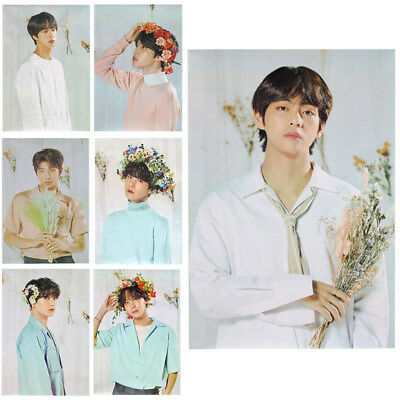 KPOP BTS Wall Poster Bangtan Boys Paper Hanging Poster Fans Gift 72.5*50.5CM