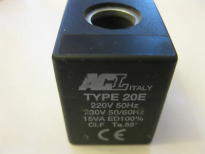 ACL or ODE COIL 230V-50/60HZ 15VA SOLENOID VALVE coil COFFEE ESPRESSO MACHINE