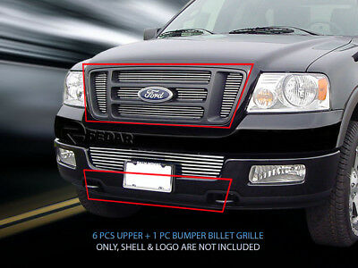 Polished Billet Grille Grill Combo Insert For 2004-2005 Ford F-150
