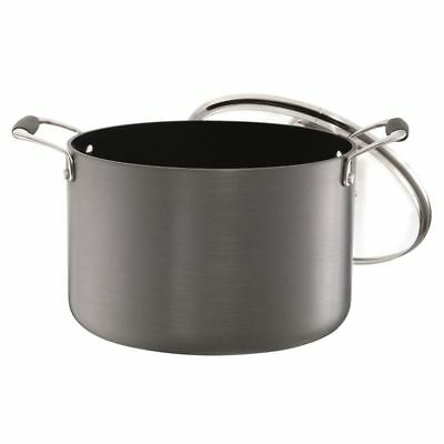 Blinq - Elite Non-Stick Stock Pot 7Ltr with Glass Lid 24cm
