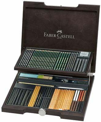 Faber-Castell Artist Quality Art Supplies Pitt Monochrome Wood Case NEW