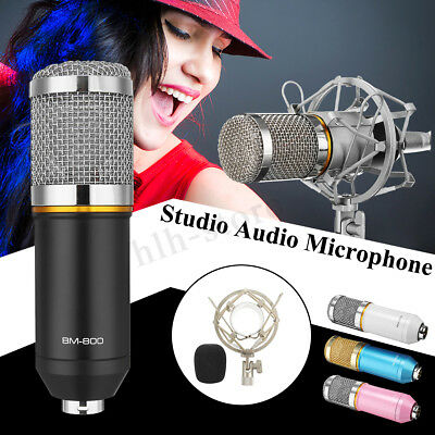 Professional Studio Recording Condenser Microphone Kit Complete Set for BM-800