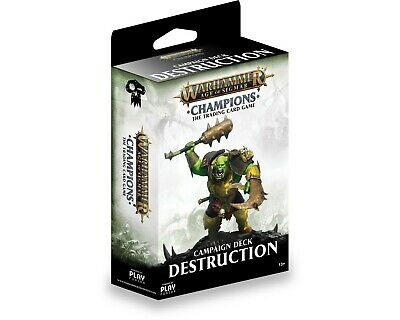 Warhammer Age of Sigmar: Champions Wave 1 Campaign Deck Destruction Fusion New