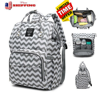 LEQUEEN Waterproof Baby Diaper Bag Mummy Maternity Nappy Travel Backpack Large