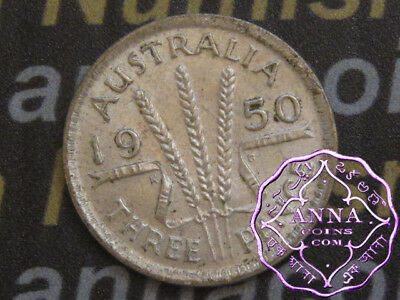 Australia 1950 George VI Threepence X1, High Condition