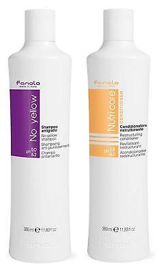 Fanola-Pflege Set 1x No Yellow Shampoo 350ml und 1x Nutri Care Conditioner 350ml