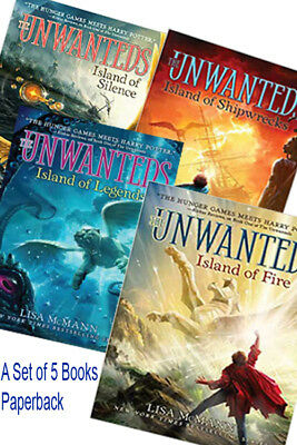 The Unwanteds Series Books Set of 5 Brand New Paperbacks by Lisa McMann